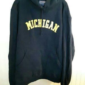 A Michigan Sweat Shirt with Hood.